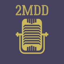 Microphone on Two Moms Day Drinking Podcast logo